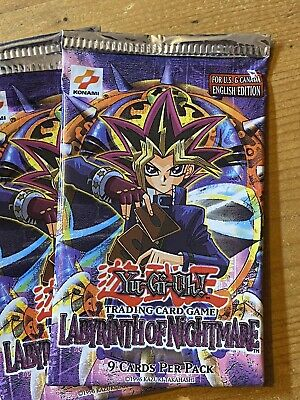 YuGiOh! Labyrinth Of Nightmare Booster Pack. New And Sealed. Original Print • 30£