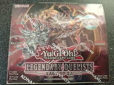 YuGiOh Legendary Duelists Rage Of Ra Sealed Booster Box Of 36 Packs • 50£