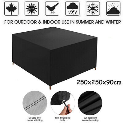 Square Furniture Table Cover For Rattan Table Cube Set Outdoor Patio Waterproof • 17.99£