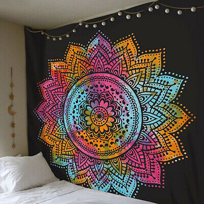 Indian Twin Hippie Mandala Tapestry Bohemian-Bedspread Blanket Wall Hanging Mat • 8.99£