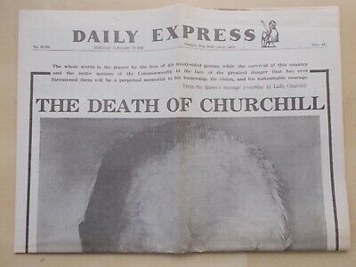 £7.99 • Buy VINTAGE NEWSPAPER DAILY EXPRESS JANUARY 25th 1965 THE DEATH OF WINSTON CHURCHILL