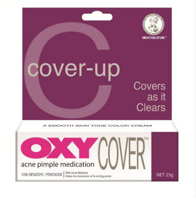 NEW 25g OXY COVER Kill And Conceal 10% Benzoyl Peroxide Acne Pimple UK SELLER • 10.49£