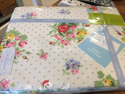 BNWT Cath Kidston Pastel Flower Double Duvet Cover And 2 Matching Pillowcases • 42.50£