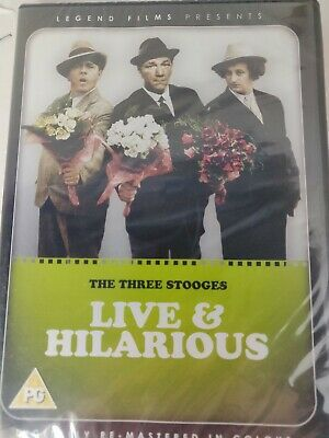 The Three Stooges -  (DVD) Live And Hilarious NEW  • 7.75£