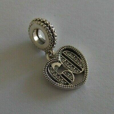 New Genuine Pandora Pave Happy 60th Birthday Charm S925 Ale With Free Pouch • 18.99£