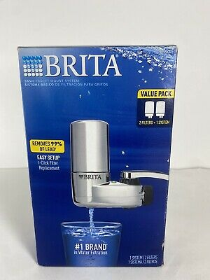 £25.45 • Buy BRITA On Tap Faucet Mount Water Filtration System Chrome 2-Filters Value Pack