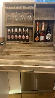 Wooden Wall Outdoor Bar Wine Beer And Gin Garden Party Home Drinks Bar. • 80£