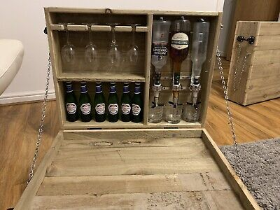 Wooden Wall Outdoor Bar Wine Beer /Gin Garden Party Home Drinks Bar With Optic. • 100£