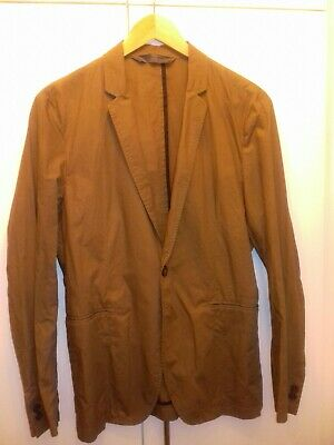 Zara Man Sz 34 -36  Chest Brown Cotton Casual Lightweight Single Breasted Jacket • 8£