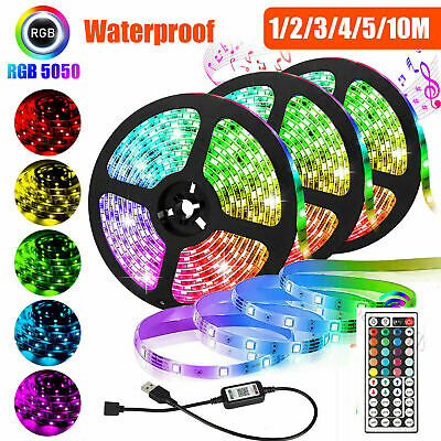 $10.99 • Buy 1~20M Flexible 3528RGB LED SMD Strip Light Remote Fairy Lights Room Party Bar.
