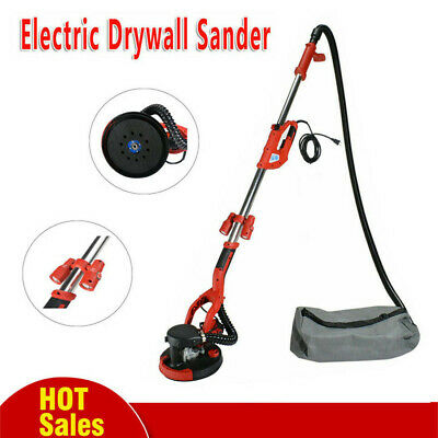 1200W Telescopic Drywall Sander With LED Dust Free Dry Wall Ceiling UK Plugs • 129.99£