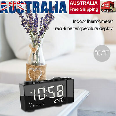 AU32.89 • Buy Smart Digital LED Projection Alarm Clock Time Temperature Projector LCD Display