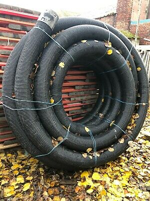150mm LAND DRAIN 50 Mtr COIL PERFORATED DUCTING DUCT FOR ELECTRIC / WATER ETC • 180£