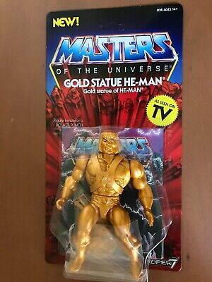 $24.95 • Buy Masters Of The Universe  Gold Statue He-man  Vtg Style 5  Figure Super 7 Motu