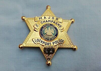 Collectors Usa Historic Police Badge Obsolete Style Lockport Police La • 25£