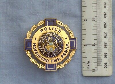 Collectors Usa Historic Police Badge Obsolete Style Haverford Twp Police  Pa • 25£
