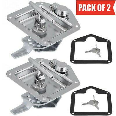 AU35.99 • Buy 2PCs Folding T Handle Lock Latch Trailer Truck Camper Tool Box Stainless Steel
