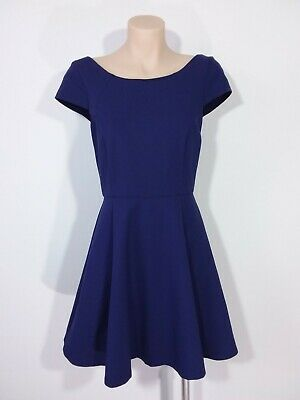 AU27.95 • Buy Forever New Size 10 Blue Short Sleeved Fit & Flare Dress