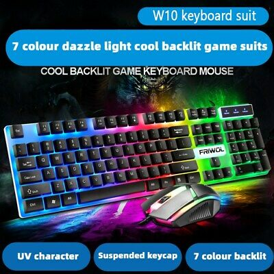 AU26.39 • Buy Backlit Rechargeable Wireless Gaming Keyboard + Cordless Mouse DPI Control Kit