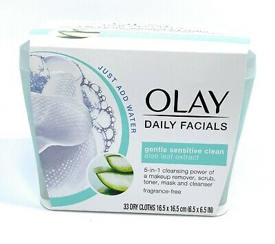 AU16.72 • Buy Olay Daily Facials Gentle Sensitive Clean Aloe Dry Cloths Tub Makeup Remover