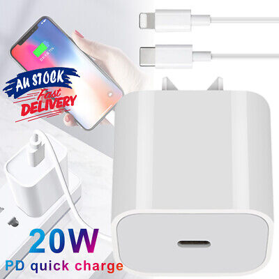 AU16.79 • Buy PD20W Fast Charger Adapter AC Cable Type-C For IPhone 12 11 XS Pro Max IPad CAS#