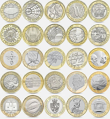 £49.99 • Buy British £2 2 Pounds Coin Collection 1999- 2016