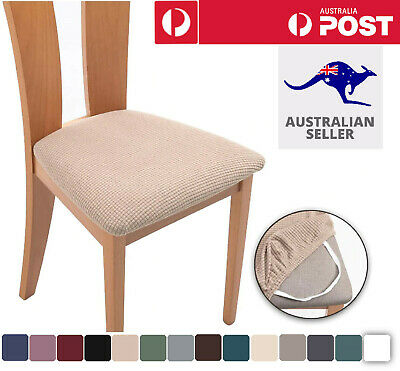 AU21.96 • Buy 2-8PCS Dining Chair Covers Kitchen Home Seat Cover Stretch Removable Slipcover