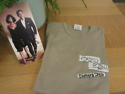 T The Shirt Worn By Camera Crew Filming Jamed Bond Casino Royale Size M Slim Fi • 4.99£