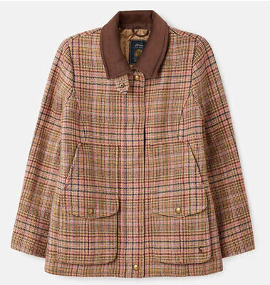 Joules Ladies Pink Tweed Fieldcoat Brand New With Tags • 199£