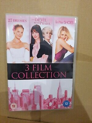 27 Dresses The Devil Wears Prada In Her Shoes DVD NEW And SEALED 3 Films • 1.20£