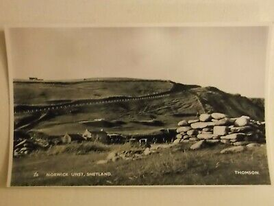Vintage Postcard Of Norwick Unst By Thomson Pub Frith RP • 3£
