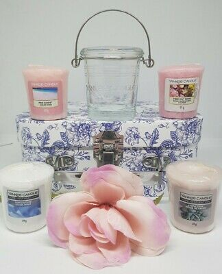 Yankee Candle Gift Set Box For Her Votive Candle & Yankee Holder Set Pink Sands  • 16.95£