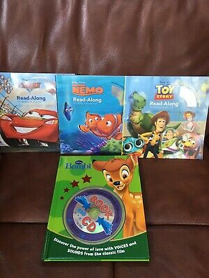 Disney Read Along Story Books And CDs • 3.50£