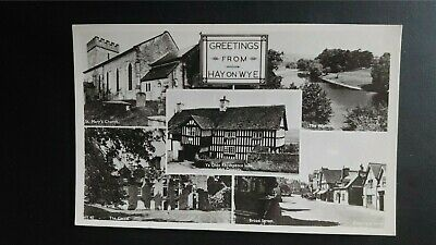 Hay-on-Wye Multiscene Frith Real Photo Postcard • 3£