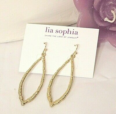 $ CDN14.33 • Buy Beautiful Lia Sophia  LEAFLET  Pierced Dangle Earrings, NWT