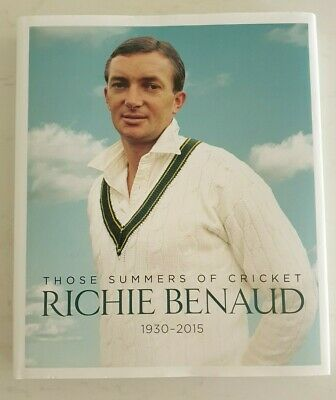 AU135 • Buy Richie Benaud Cricket Signed Those Summers Of Cricket Hard Cover Book