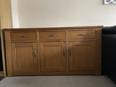 Next Solid Oak Large 3 Door Cambridge Sideboard • 249£