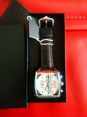 Mens Watch Motorsport Motor Racing Steve McQueen Le Mans Monaco Race New And Tag • 75£