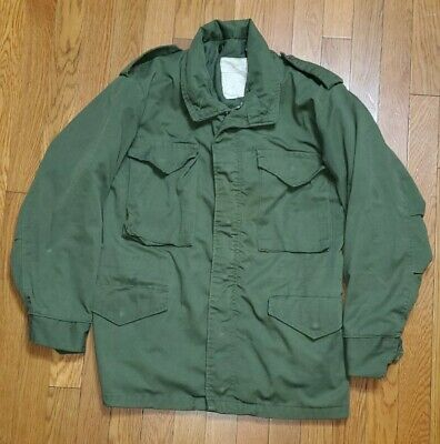 $59.99 • Buy Us Military Army M-65 Vintage Corinth Field Jacket Coat W/ Hood Mens Size Small