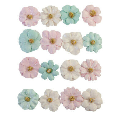 £7.99 • Buy Prima Marketing With Love Pastel Paper Flowers Mothers Day Birthday Card Making