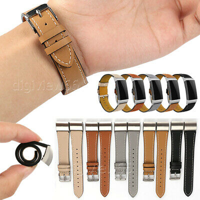 AU11.97 • Buy For Fitbit Charge 2 Classic Genuine Leather Wristband Metal Buckle Band Straps
