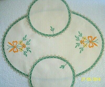 3 Dressing  Table Mat Set..Embroidered. • 14£
