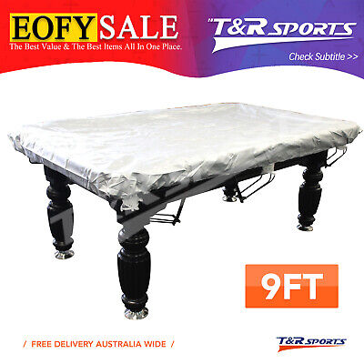 AU45.99 • Buy 9FT Fitted Heavy Duty Billiard Pool Table Cover Water Resistance Elastic Corners