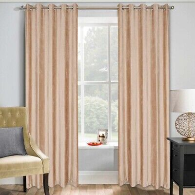 66 X72 Thermal Blackout Curtains Eyelet Ring Top Ready Made Pair Curtains Panel • 11.99£