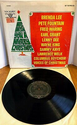 £5.08 • Buy Brenda Lee/etc We Wish You A Merry Christmas From* Vinyl LP Vocalion 1967 STEREO
