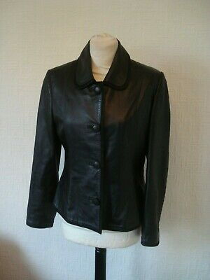 Quality Alex & Co Real Soft Black Leather Jacket ~Size 10~ • 20£