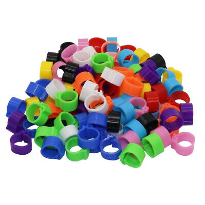 Poultry Leg Bands Bird Pigeon Parrot Chicks Rings 10mm 200Pcs Numbered • 6.09£