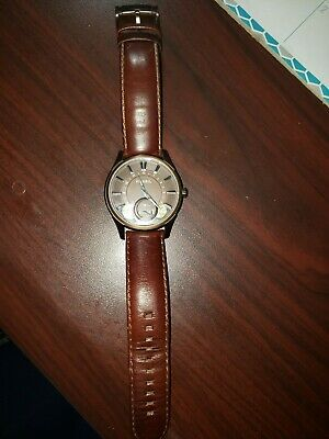 $55 • Buy Fossil Twist Automatic Men's Brown Leather Dress Analog & W-resist Watch.ME-1035