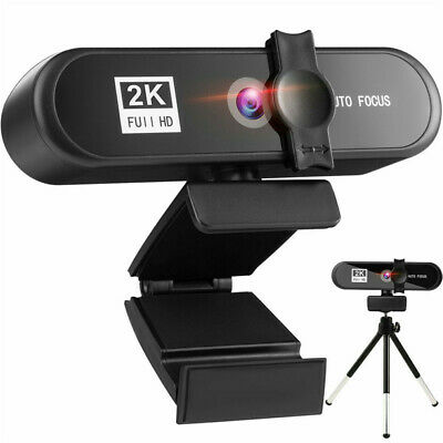 $ CDN30.88 • Buy 2K 1080P Full HD Webcam AF Autofocus For PC Laptop Web Camera With Microphone