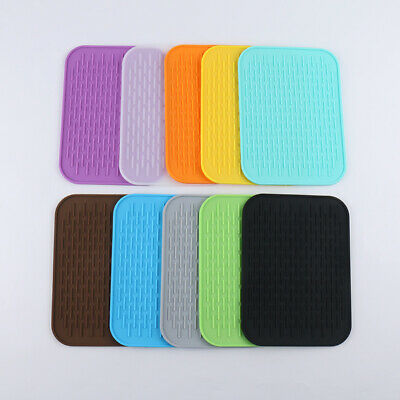£3.39 • Buy Silicone Trivet Mat Pan Pot Holder Mitts Pad Heat Resistant Nonslip Kitchen Home